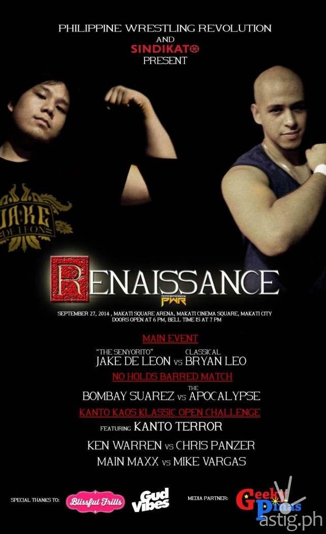 Philippine Wrestling Revolution (PWR) Renaissance poster