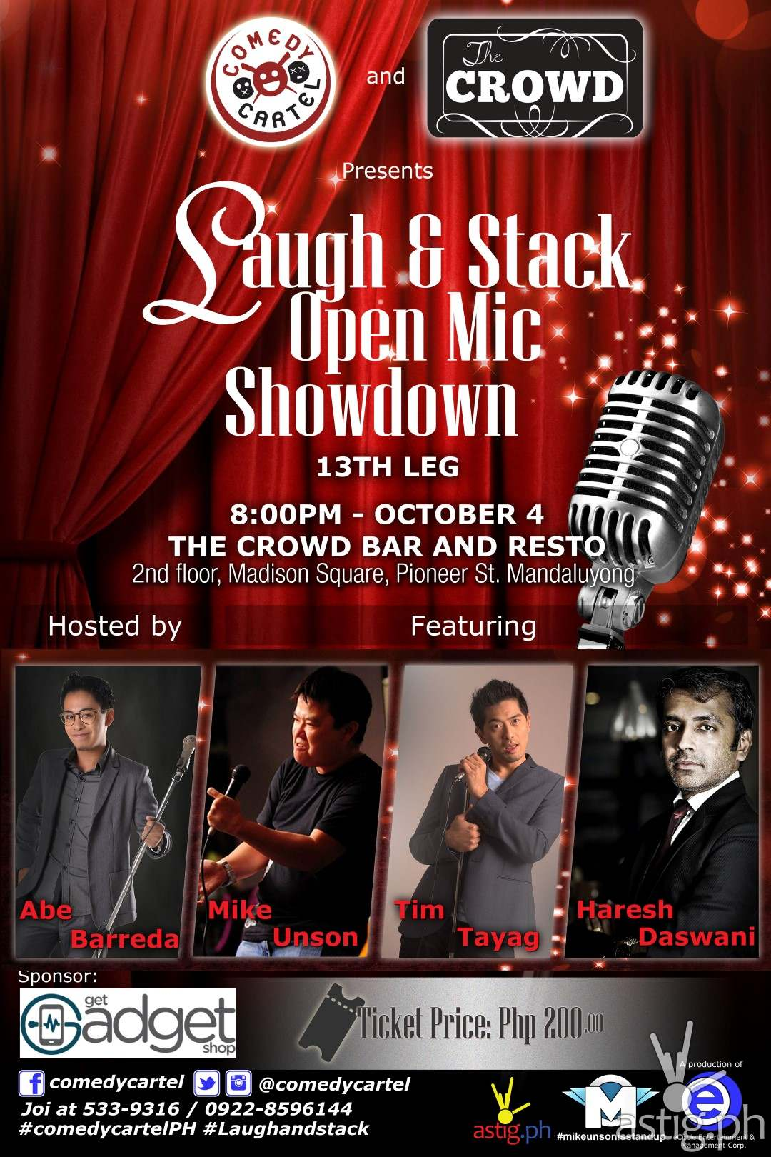 Laugh & Stack mic showdown Comedy Cartel