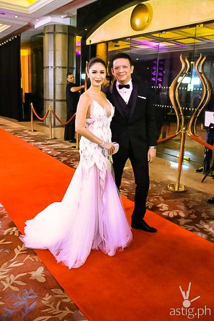 Sen. Chiz Escudero and Heart Evangelista Star Magic Ball 2014