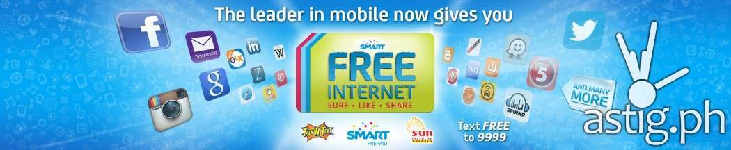 Smart prepaid free Internet promo banner