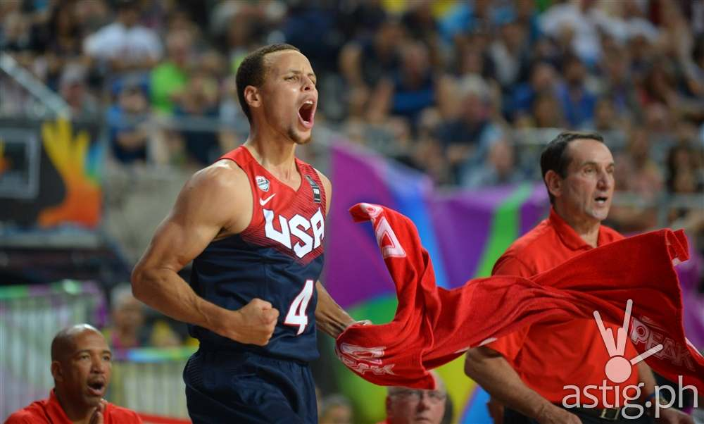 Stephen Curry USA vs Slovenia 2014 FIBA Basketball World Cup Barcelona Spain