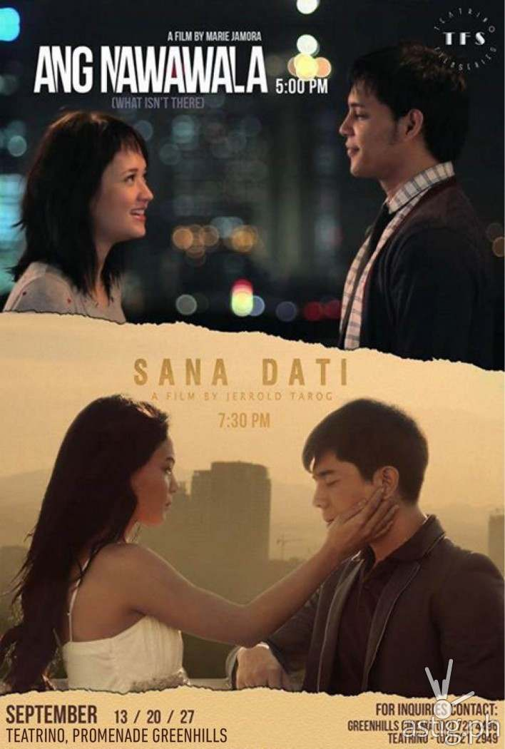 Sana Dati and Ang Nawawala shown at the Teatrino  Film Series poster