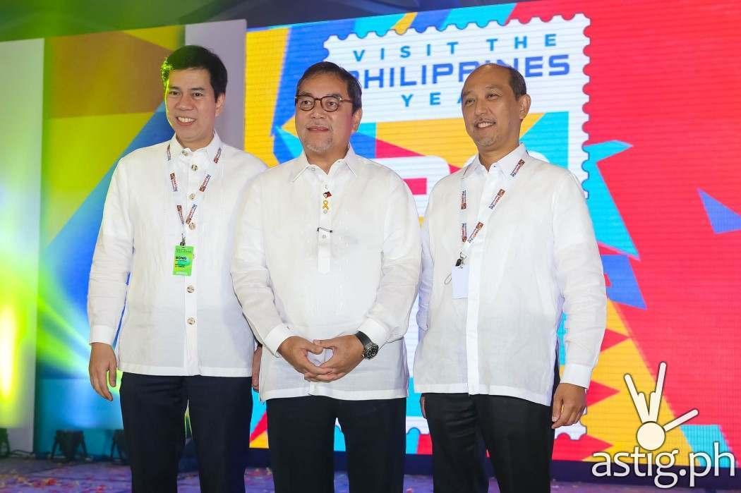 Ramon Jimenez Jr. Department of Tourism (DOT) Philippines Secretary at the Visit the Philippines (VPY) 2015 event