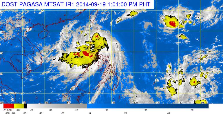 Typhoon Mario satellite image (PAGASA)