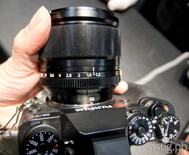 FUJINON XF56mmF1.2 R APD autofocus lens