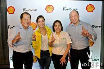 Mr. Bobby Kanapi; VP for Communications, Shell Philippines, Ms. Bianca Gonzales; Shell Brand Ambassadress, Ms. Mae Ascan; Fuel Scientist, Shell Philippines and Mr. Ramon Del Rosario; VP for Communications, Shell Philippines.