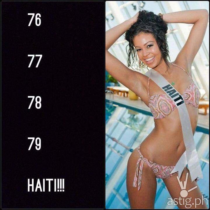 77, 78, 79 ... HAITI!!!