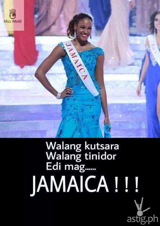 Walang kutsara walang tinidor edi mag ... JAMAICA!!!