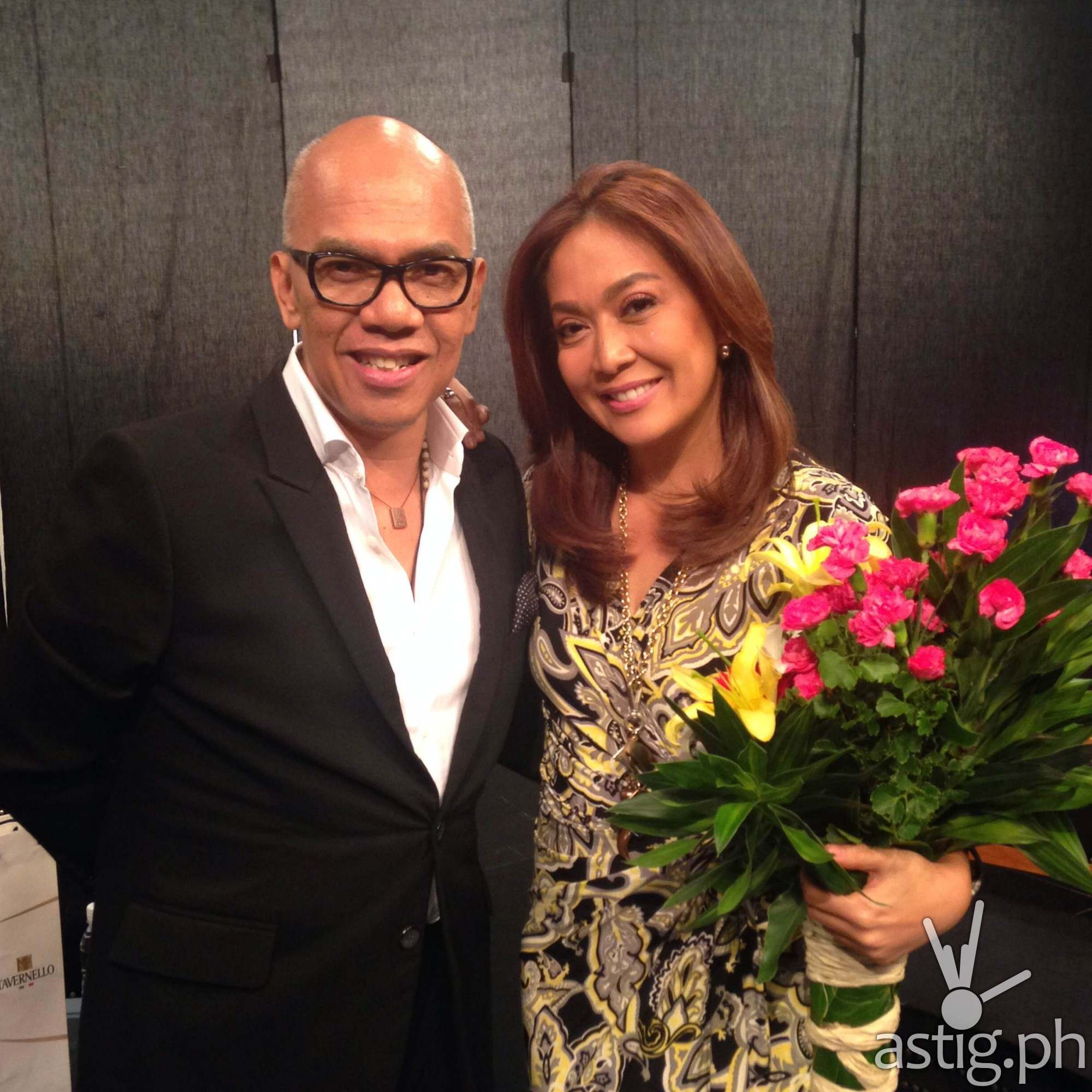 Boy Abunda with Karen Davila on The Bottomline