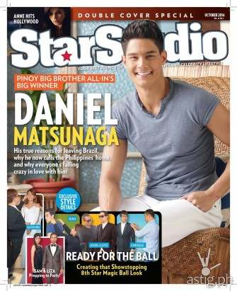 Daniel Matsunaga & Anne Curtis on the cover of StarStudio Magazine