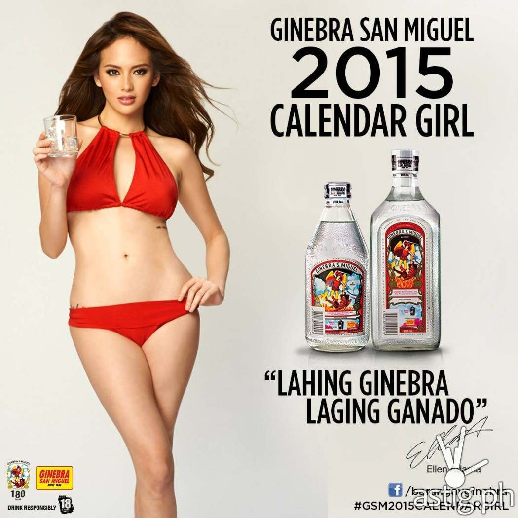 Ellen Adarna Ginebra San Miguel 2015 calendar girl picture