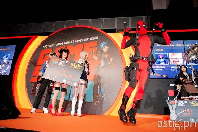 Deadpool strikes a pose at Gamestart Asia 2014