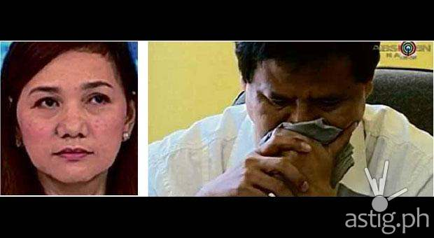 "Gov Edgardo Tallado cries on national television Wednesday after his wife, Josefina ""Josie"" Baning Tallado went missing on Monday"