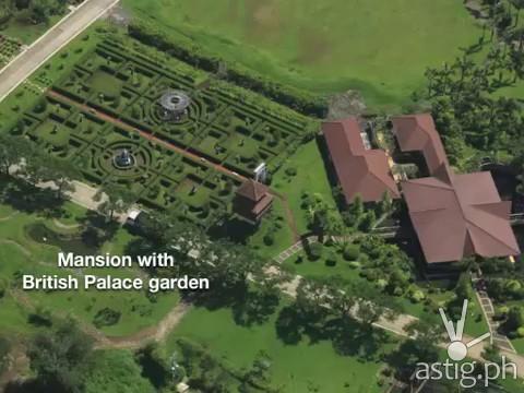 Hacienda Binay Mansion with British palace-inspired garden (Kew Garden, London)