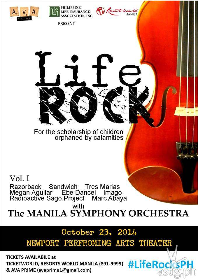 Life Rocks concert poster