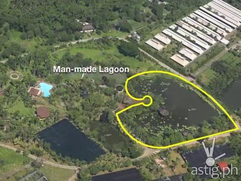 Man-made lagoon found in Hacienda Binay