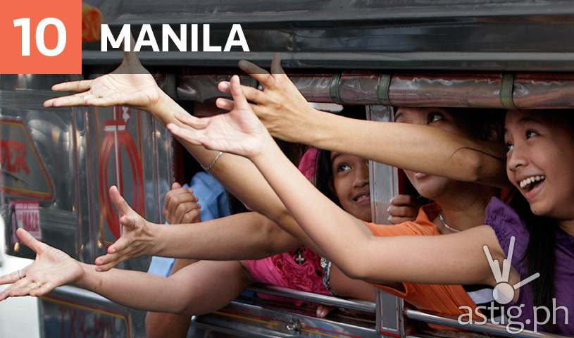 Manila is #10 most dangerous city in a poll conducted by Thomson Reuters and YouGov of the largest cities in the world in terms of transportation