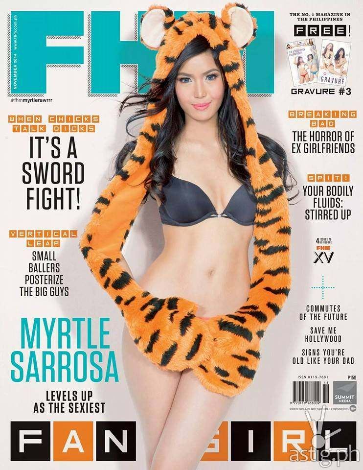 Myrtle Sarrosa FHM November 2014 cover