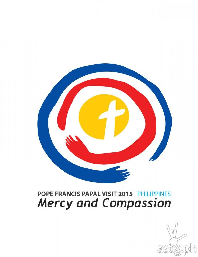 Mercy and Compassion: official logo for Pope Francis Papal Visit to the Philippines in 2015