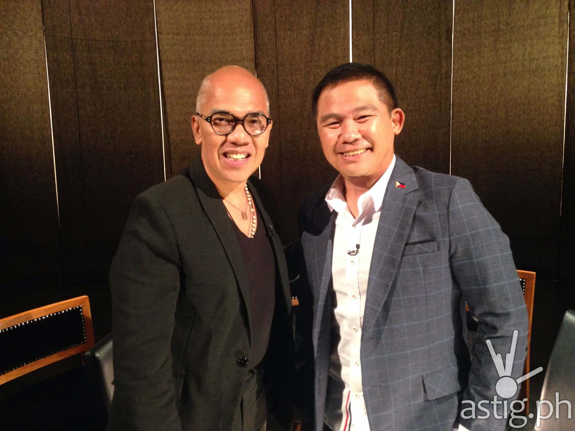 Boy Abunda with Chot Reyes