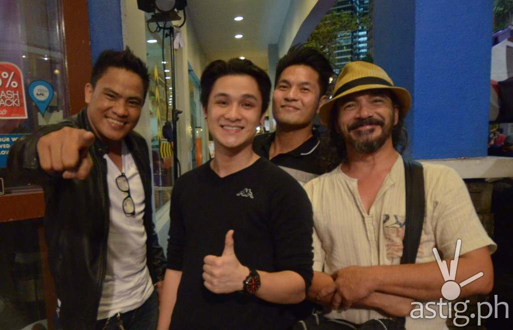 Darryl Shy with 'The Voice of the Philippines Season 1' co-finalists Paolo Onesa, MJ Podolig, RJ Pangi