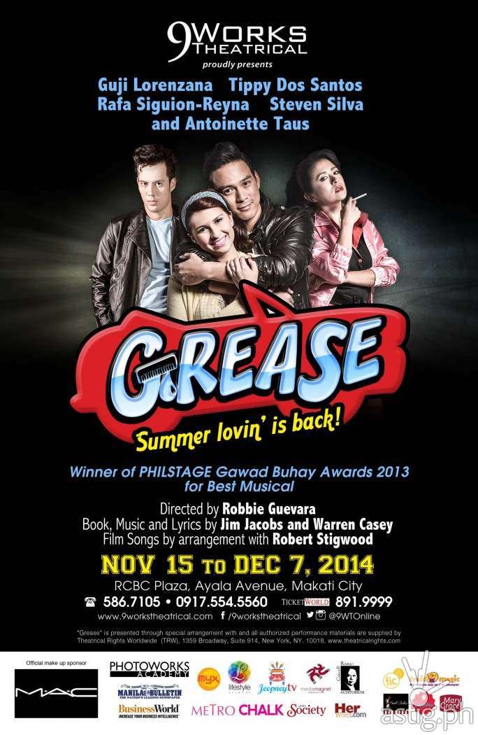 Grease 2014 by 9Works Theatrical (poster)