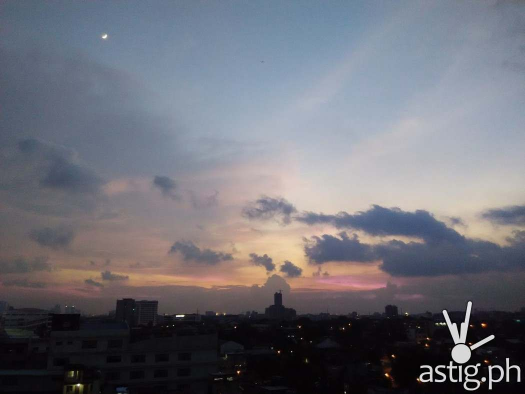 Xiaomi RedMi 1S camera test photo: sunset