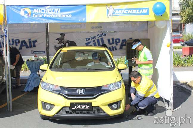MICHELIN Fill Up With Air safety campaign
