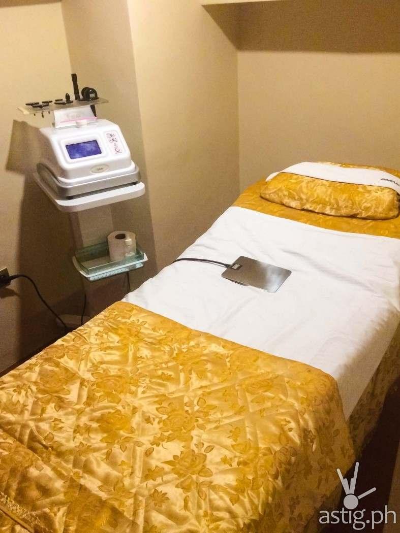 Radio Frequency (RF) treatment room at Princess Hazel Salon & Spa