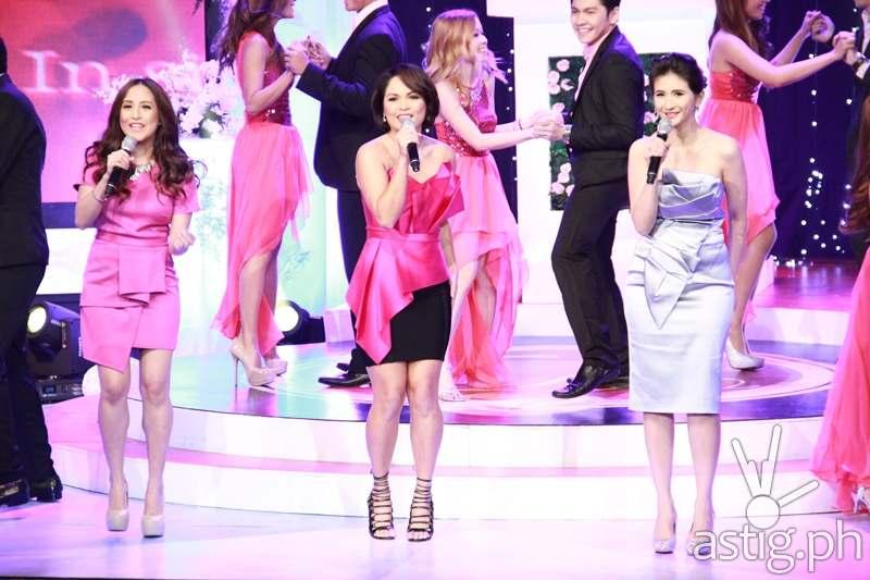 Jolina Magdangal-Escueta, host Judy Ann Santos-Agoncillo, and Rica Peralejo-Bonifacio during I Do