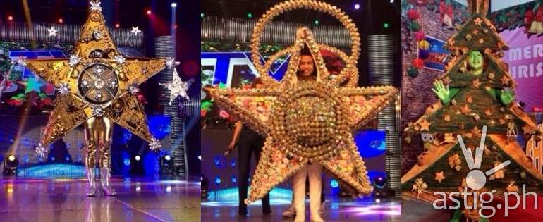 Mga taong parol sa TV PAROL ng It's Showtime---mga parol na gawa sa hindi ordinaryo at recycled na materyal