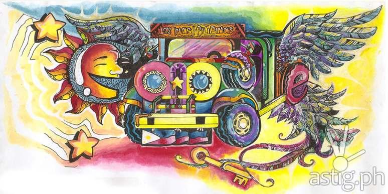 Doodle 4 Google winning entry SariManok Jeepney by Kim Patrick Saren