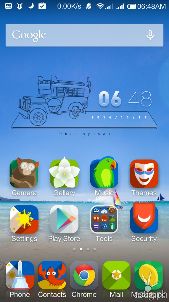 MIUI Philippines theme (home screen)