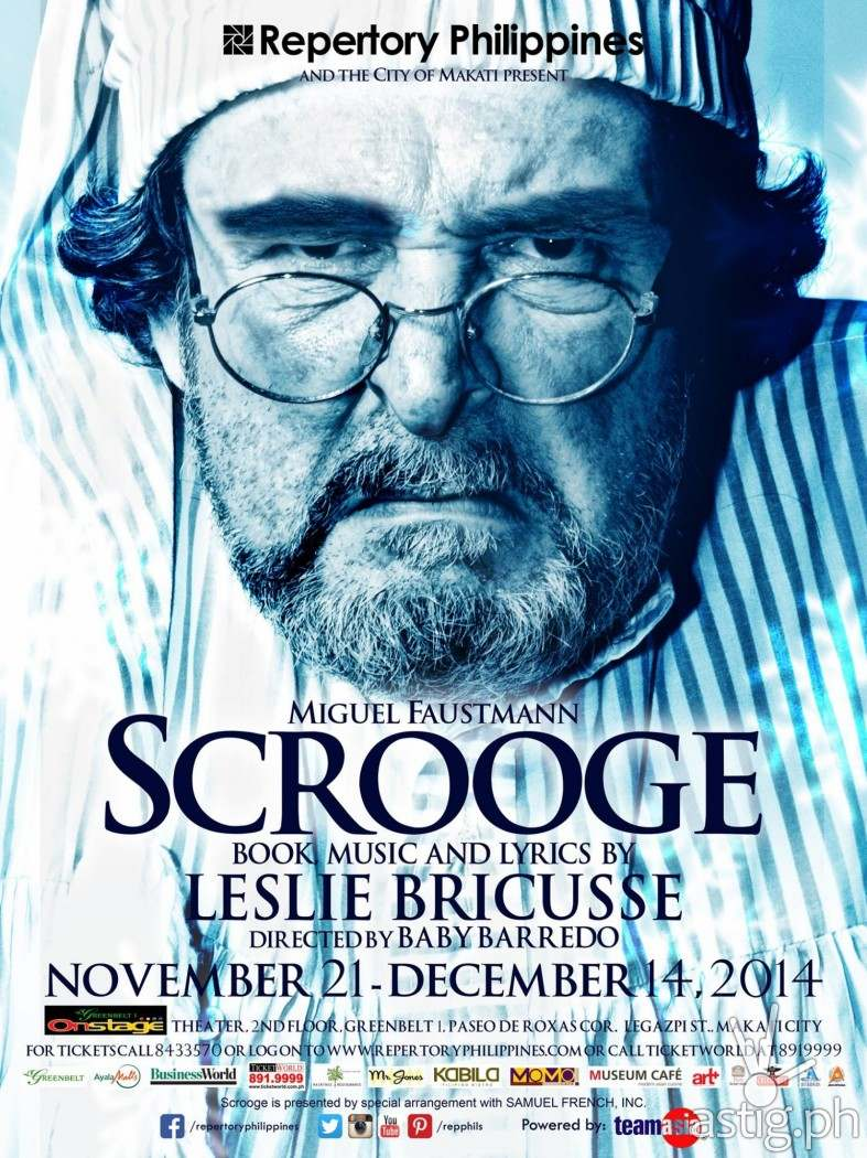 Scrooge by Repertory Philippines poster
