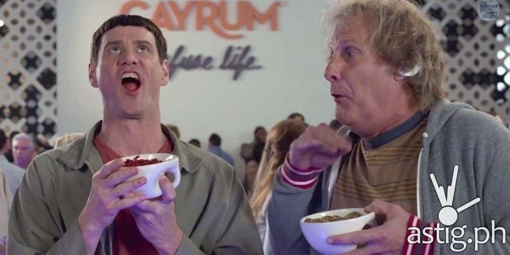 Jim Carrey and Jeff Daniels is DUMB AND DUMBER TO