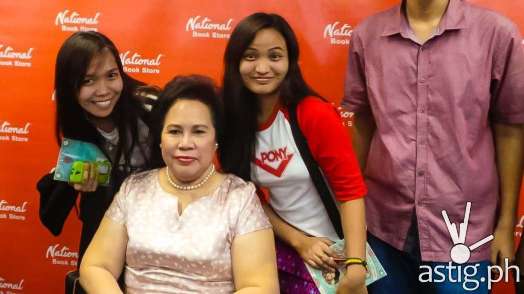 """Senator Miriam Defensor-Santiago with Rejj Sibayan of ASTIG.PH at the book launch of """"Stupid is Forever"""" (photo by Rejj Sibayan)"""