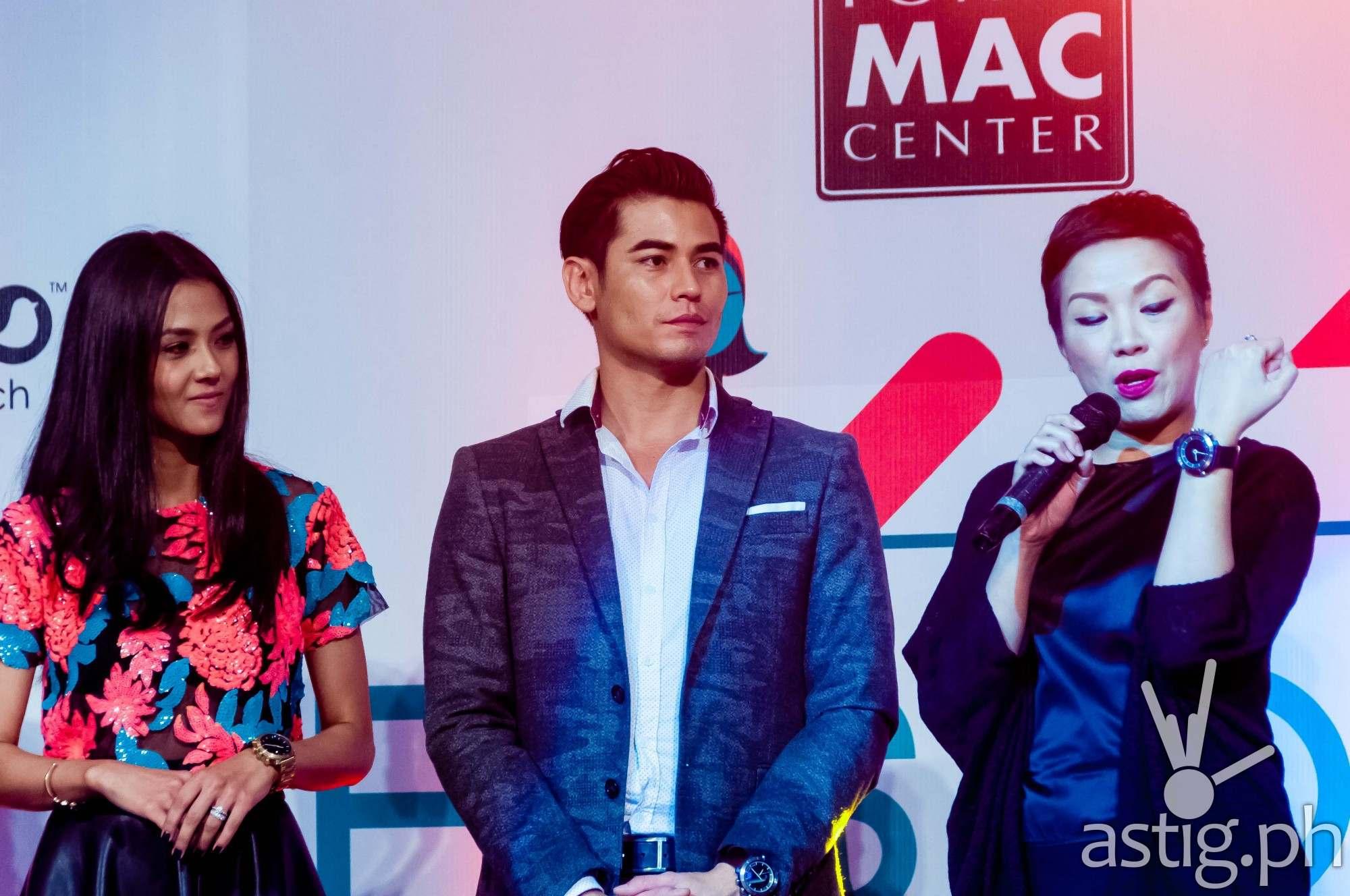 Vanessa Matsunaga and Fabio Ide at the FUSION tech + fashion event by Power Mac Center