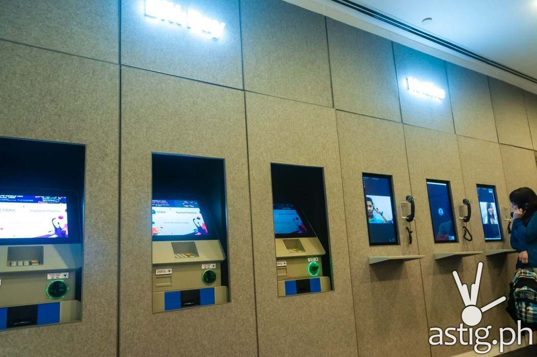 Bills Pay and Hotline area at the new Globe GEN3: Next Act store at SM North EDSA