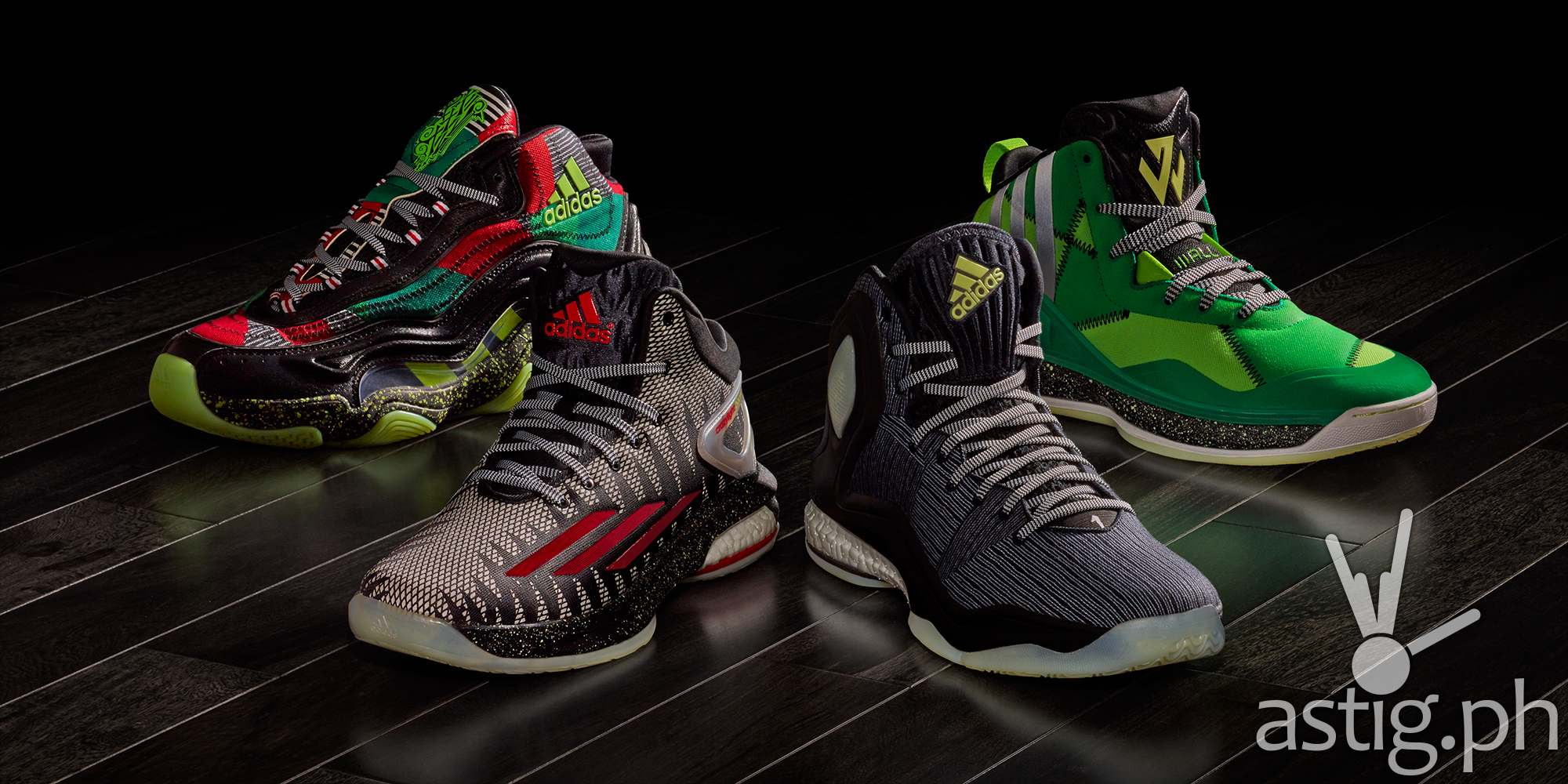 "new concept 5d220 235b1 adidas ""Bad Dreams"" collection  D Rose 5 Boost, J Wall 1,"