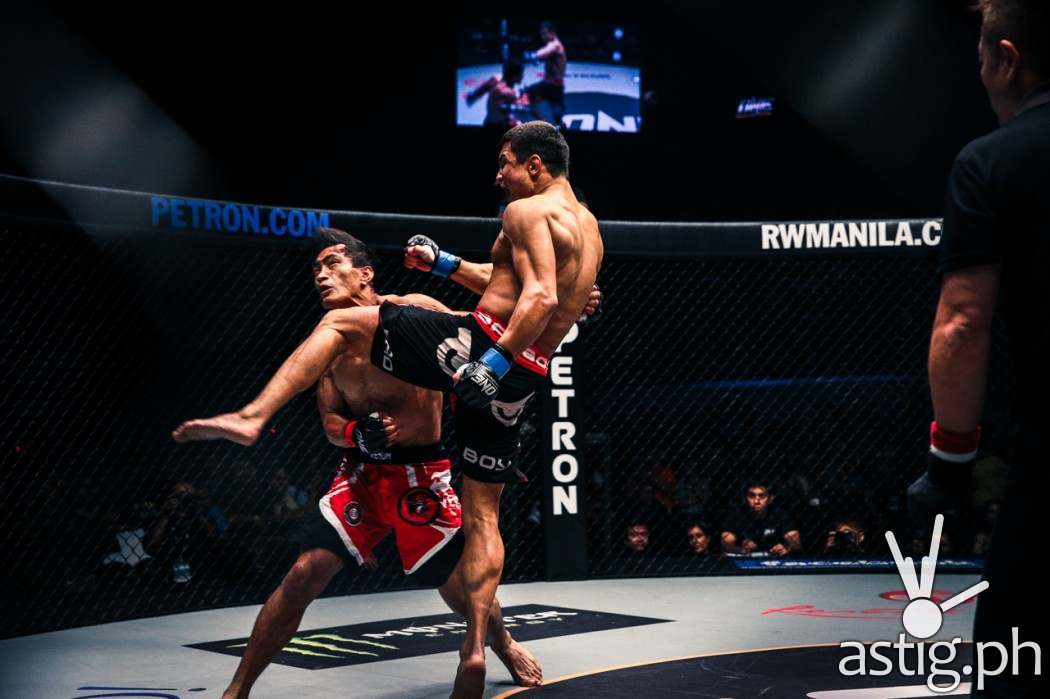 Timofey Nastyukhin from Russia made swift work of Eduard Folayang from Team Lakay, delivering a flying knee to the chin that ended the fight at 3:11 of round 1