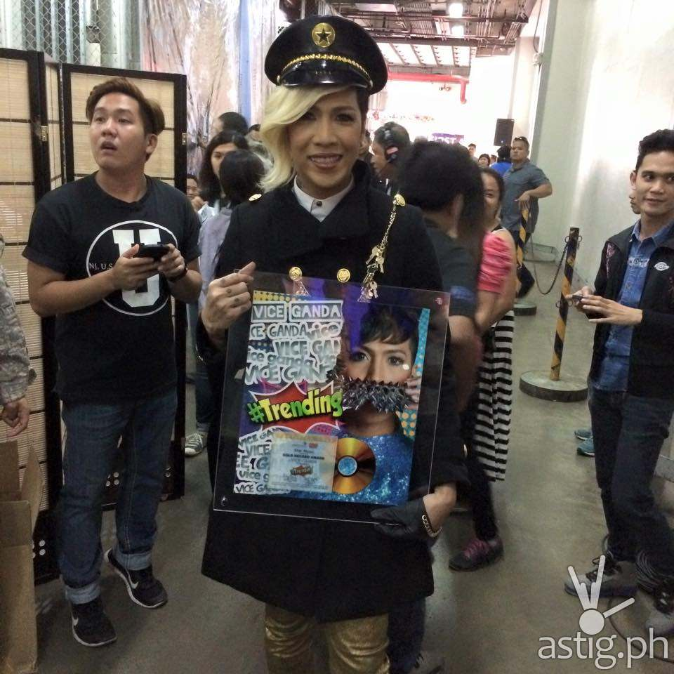 Vice Ganda recently received his gold record award in ASAP 19