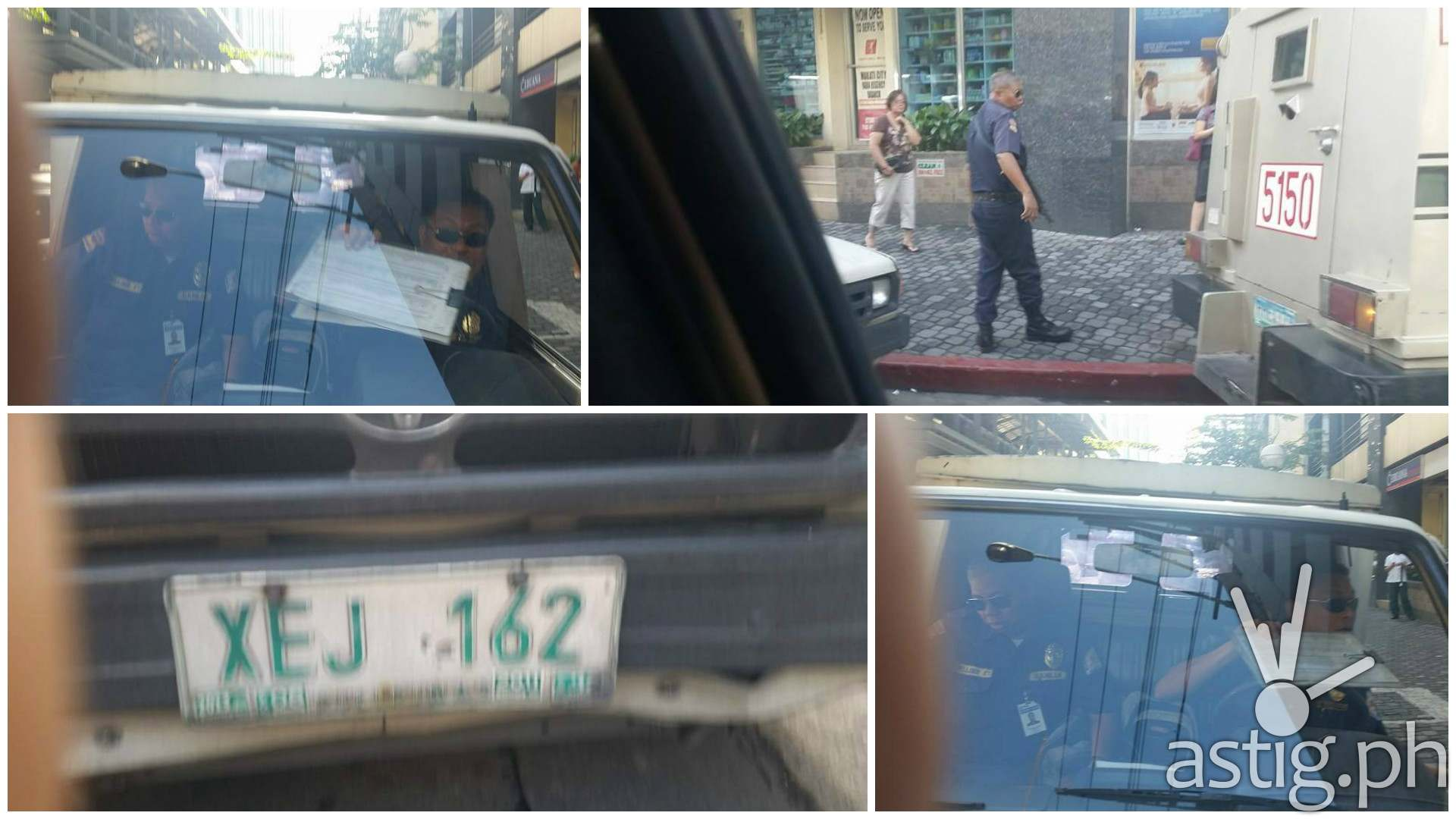 security guards threaten woman in Makati traffic incident