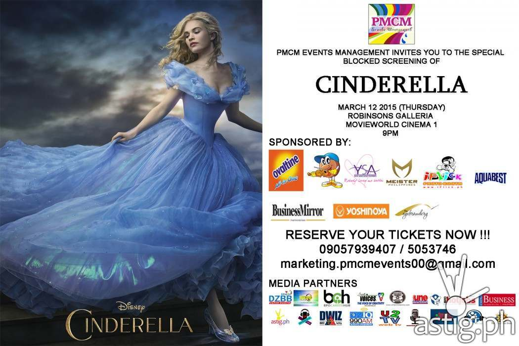 Walt Disney's Cinderella: the movie event poster