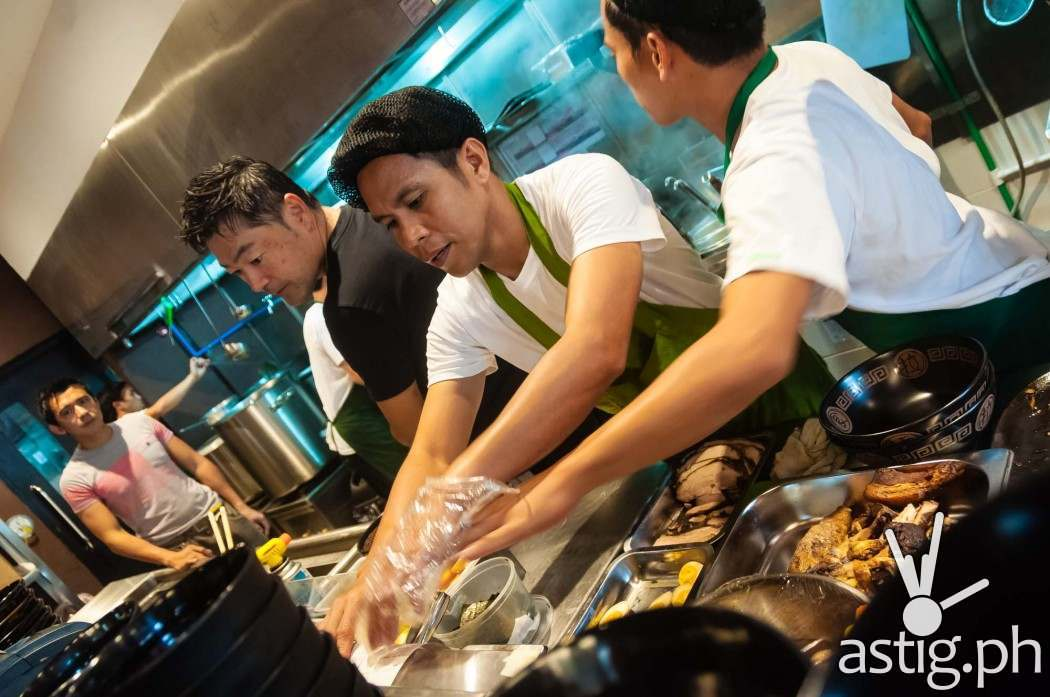 It's a busy day at the soft opening of Ramen Sora in Subic