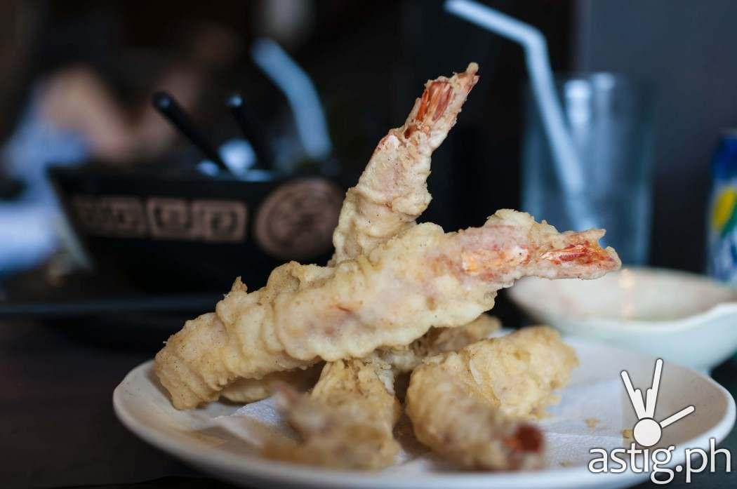Shrimp tempura (4 pcs at 375 PHP) at Ramen Sora