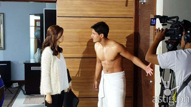 "Daniel Matsunaga and Erich Gonzales behind the scene photos from ""Two Wives"""