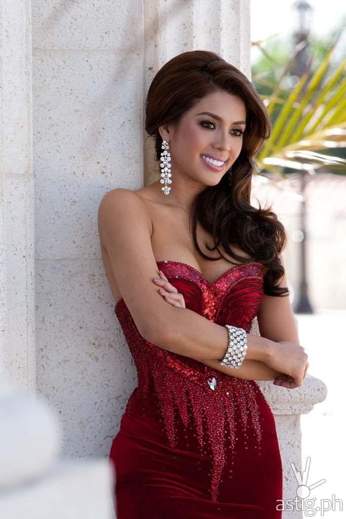 Mary Jean Lastimosa, Miss Philippines 2014 poses for photographs at the Trump National Doral Miami on January 5th, 2014. The Miss Universe contestants are touring, filming, rehearsing and preparing to compete for the DIC Crown in Doral-Miami. Tune in to the NBC telecast at 8:00 PM ET on January 25, 2015 live from the FIU Arena to see who will be crowned the 63rd Miss Universe. HO/Miss Universe Organization L.P., LLLP