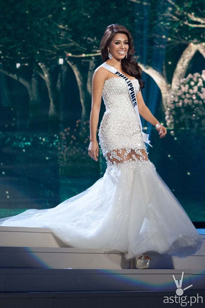 Mary Jean Lastimosa, Miss Philippines 2014, competes on stage in her evening gown during the Miss Universe Preliminary Show at the FIU Arena on Wednesday January 21st. The 63rd Annual MISS UNIVERSE® Pageant contestants are touring, filming, rehearsing and preparing to compete for the DIC Crown in Doral-Miami, Florida. Tune in to the NBC telecast at 8:00 PM ET on January 25, 2015 live from the FIU Arena to see who will be crowned the 63rd Miss Universe. HO/Miss Universe Organization L.P., LLLP