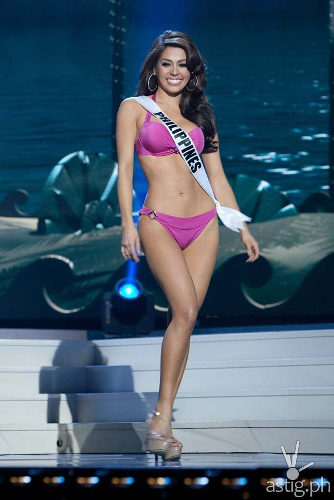Mary Jean Lastimosa, Miss Philippines 2014, competes on stage in Yamamay for Miss Universe swimwear featuring footwear by Chinese Laundry during the Miss Universe Preliminary Show at the FIU Arena on Wednesday January 21st. The 63rd Annual MISS UNIVERSE® Pageant contestants are touring, filming, rehearsing and preparing to compete for the DIC Crown in Doral-Miami, Florida. Tune in to the NBC telecast at 8:00 PM ET on January 25, 2015 live from the FIU Arena to see who will be crowned the 63rd Miss Universe. HO/Miss Universe Organization L.P., LLLP