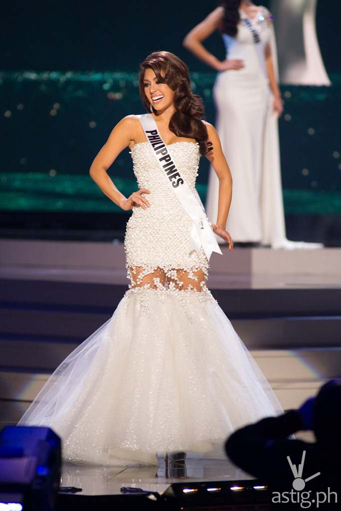 Mary Jean Lastimosa, Miss Philippines 2014 competes on stage in her evening gown during the Miss Universe Preliminary Show at the FIU Arena on Wednesday January 21st. The 63rd Annual MISS UNIVERSE® Pageant contestants are touring, filming, rehearsing and preparing to compete for the DIC Crown in Doral-Miami, Florida. Tune in to the NBC telecast at 8:00 PM ET on January 25, 2015 live from the FIU Arena to see who will be crowned the 63rd Miss Universe. HO/Miss Universe Organization L.P., LLLP